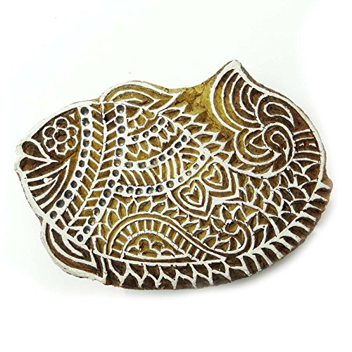Fish Wooden Indian Block Hand Carved Printing Blocks Decorative Stamp (Blocks Decorative Wooden)