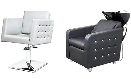Kit mobili per parrucchieri cristal 2 x poltrona parrucchiere 1 x