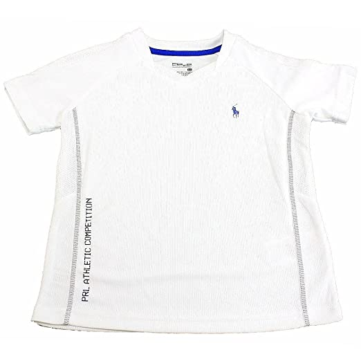 e71b710a6 Image Unavailable. Image not available for. Color  Polo Ralph Lauren Boy s  Active Soft Touch Pure White Short Sleeve Sport Shirt