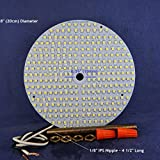 WATER-RESISTANT 6'' Diameter VERY BRIGHT SOFT WHITE (3000K) LED Panel for Ceiling Fan Light - 2200Lumens 17Watts 120Vac - NON-DIMMABLE. P/N: SPTL280LMC6-WR-SW
