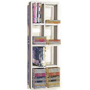 ISIS - étagère murale de rangement CD DVD Double - blanc: Amazon.fr ...