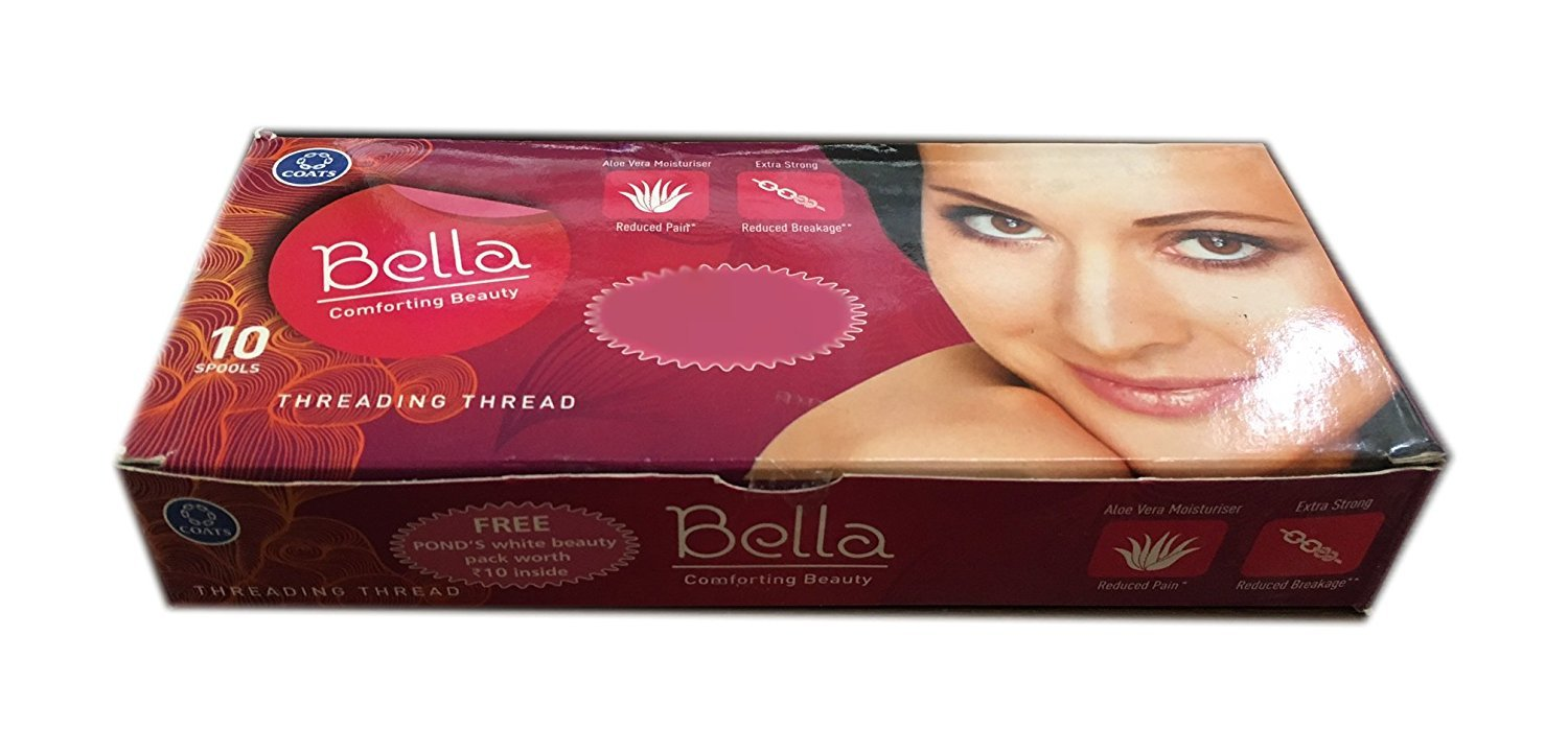 Amazon 10 Spools Of Bella Anti Bacterial Eyebrow Thread By