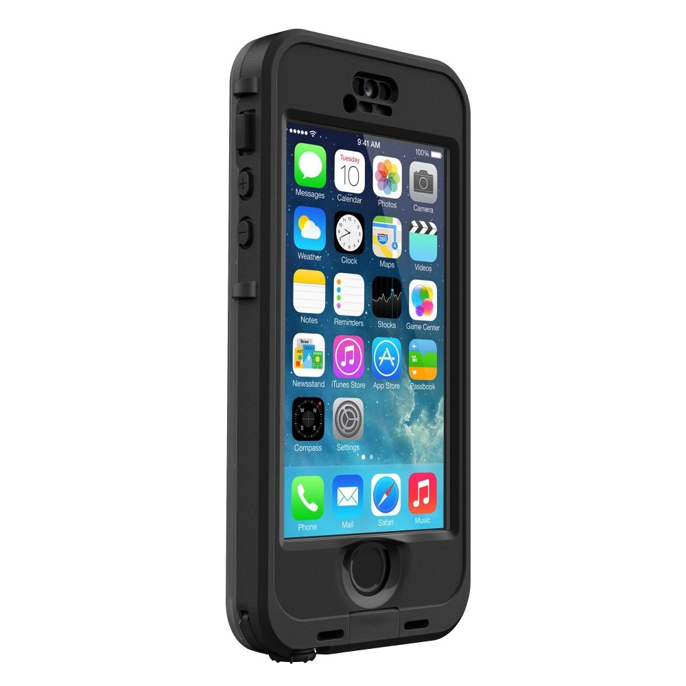 LifeProof NÜÜD SERIES Waterproof Case for iPhone 5/5s/SE - Retail Packaging - BLACK (BLACK/SMOKE) by LifeProof (Image #3)