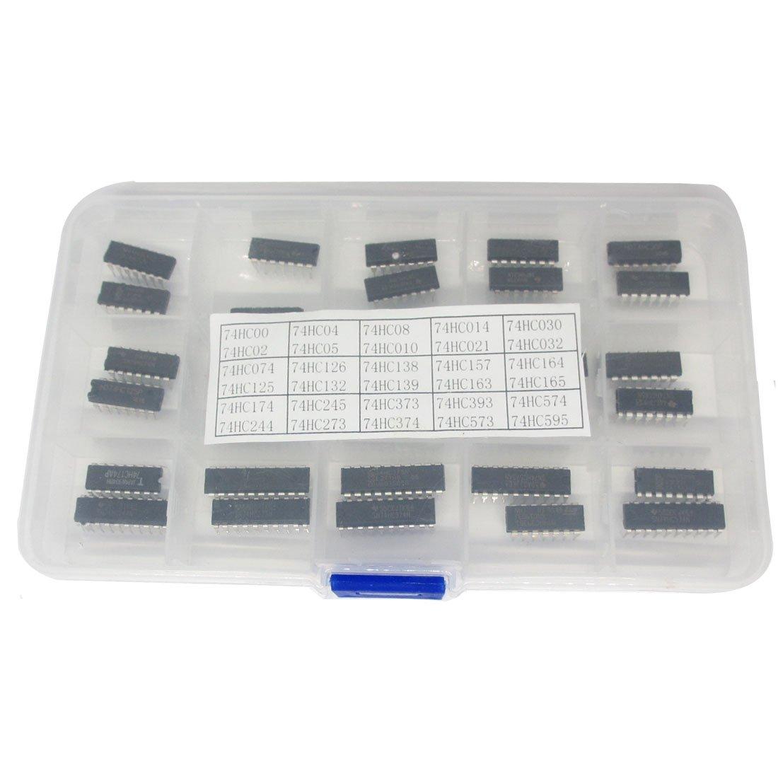 30 Types 74HC Series Logic IC Assortment Kit, High-Speed Si-Gate CMOS IC In Assortment Box
