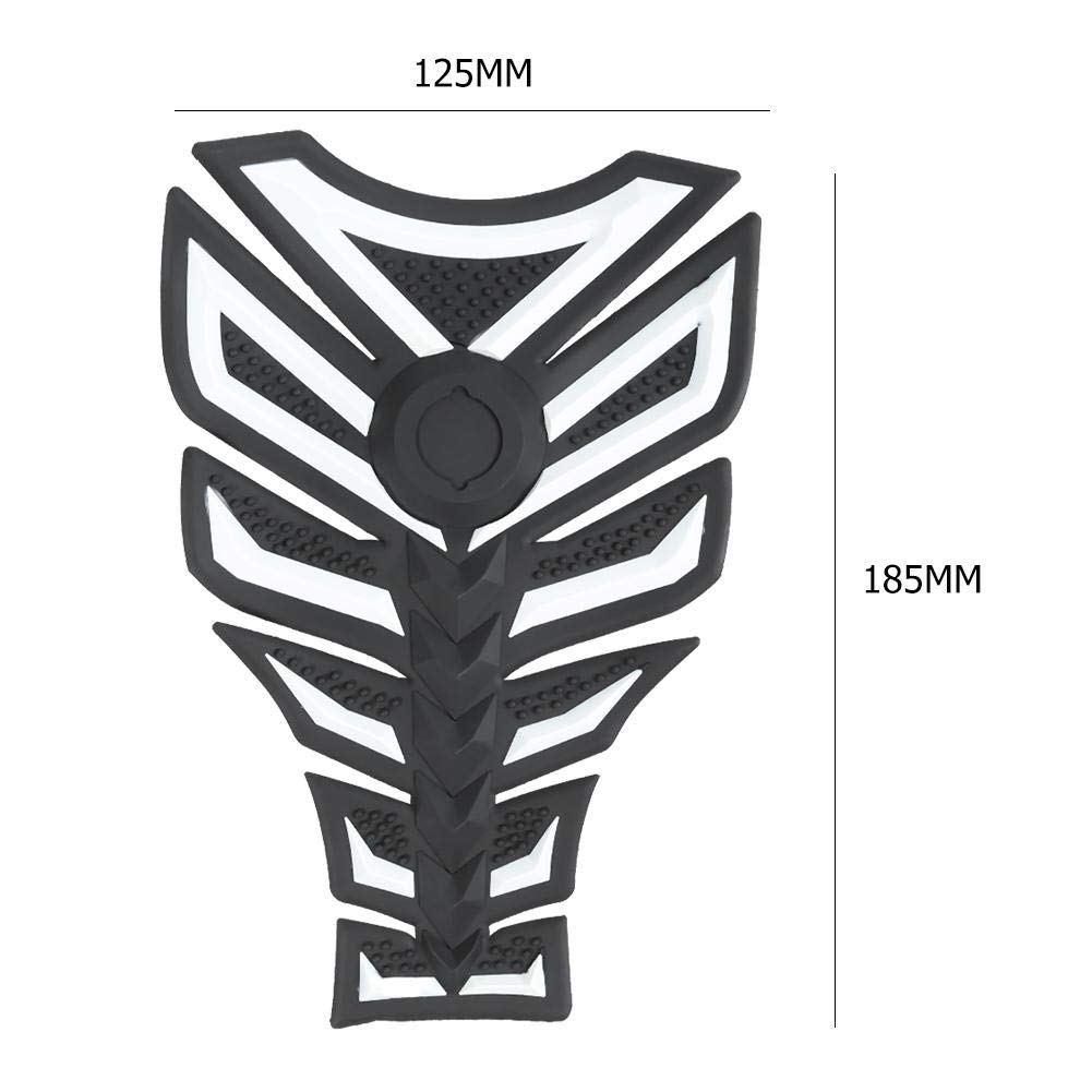 Ahomi Motorcycle Gas Tank Sticker Decal 3D Rubber Fuel Tank Pad Protector Blue