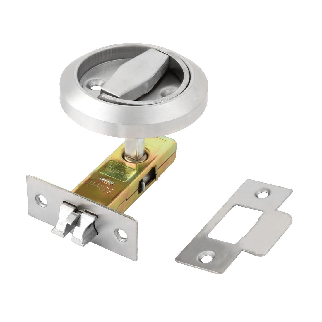 uxcell Stainless Steel Family Door Cabinet Replaceable Hardware Security Lock Silver Tone