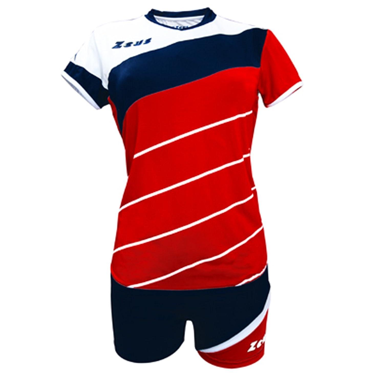 Zeus Kit Lybra Donna complementando Volley-Ball pour Les Femmes Sport pegashop Colour Rojo-Azul-Blanco