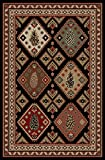 Cheap Dean Pine Ridge Multi Rustic Southwestern Lodge Cabin Pine Cone Ranch Area Rug Size: 5'3″ x 7'3″