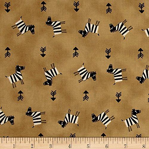 Zebra Print Fabric By The Yard (Savanna Zebra and Arrows Tan Fabric By The Yard)