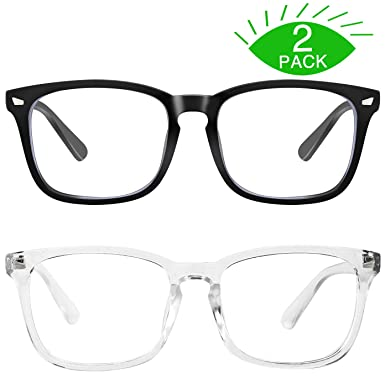a2e07fb50eb Amazon.com  MEETSUN Blue Light Blocking Glasses Nerd Eyeglasses ...