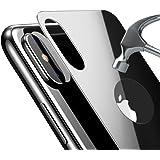 Bovon PellicolaProtettivaPosteriore iPhone X, Cover in Vetro Temperato Anti-graffio per Apple iPhone X/iPhone 10 Lite 2017 [Copertina Completa 3D] [Durezza da 9H] - Nero