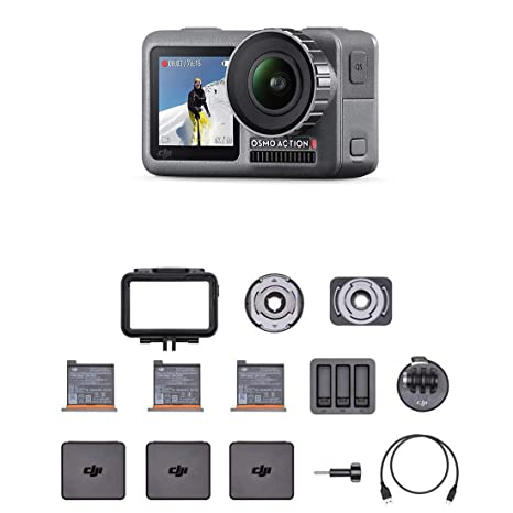 Dji Osmo Action Cam Cámara Digital Con Pantalla Doble Resistente Al Agua Hasta 11 M Estabilización Integrada Foto Y Video En 4k Hdr A 100 Mbps