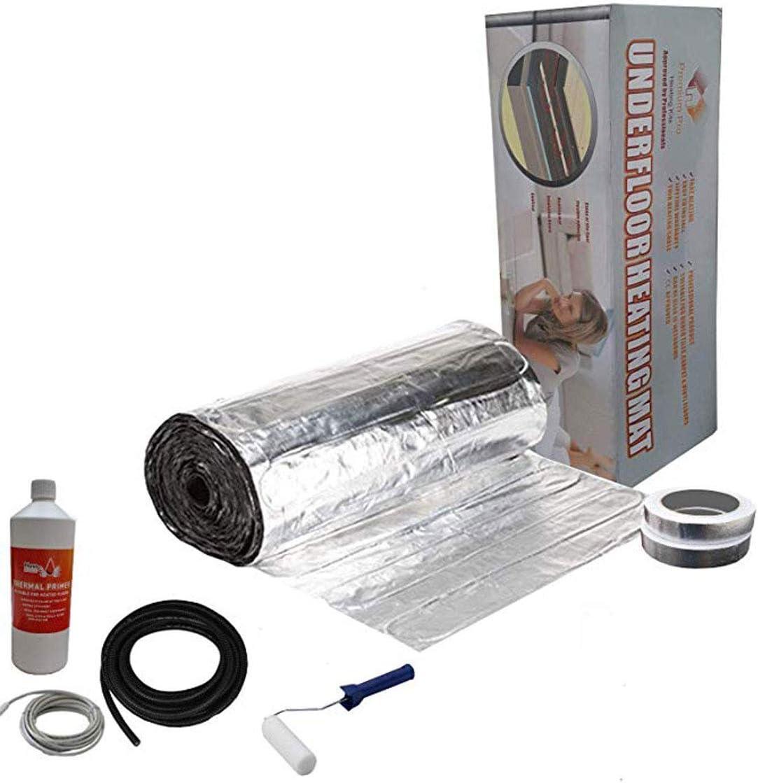 Kit /Élite Aluminium de Tapis de Chauffage Au Sol /Électrique de 150 W Nassboards Premium Pro Thermostat Noir Avec /Écran Tactile 10.0m/²