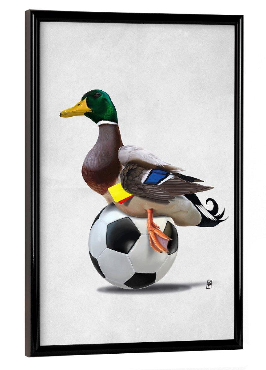 Amazon.de: artboxONE Poster mit Rahmen 30x20 cm Fowl (Wordless) von ...