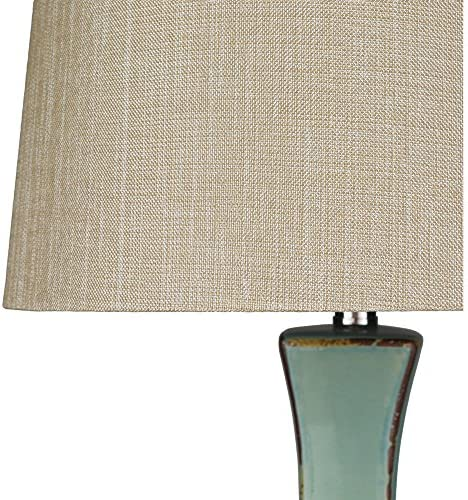 Surya LMP-1004 Table Lamp, 30 by 16 by 16-Inch, Turquoise Reactive Glaze