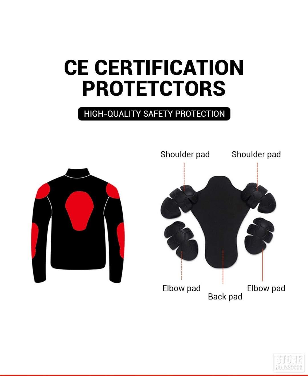 TEONGS Hombres de Malla Transpirable Racing Protective Gear Protector extra/íble Retro Summer Moto Jacket Riding Ropa