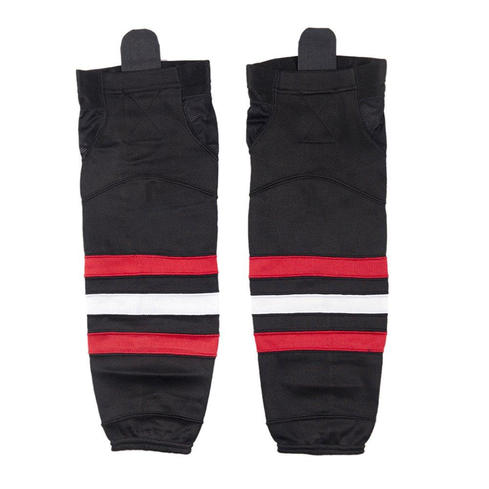 COLDINDOOR Ice Hockey Socks Black Adult, Men Women Premuim Dry Fit Hockey Socks Senior Black M by COLDINDOOR