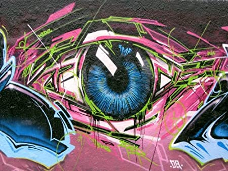 Abstract Cool Graffiti Eye Poster Photo Art A1 Xlarge 31 5