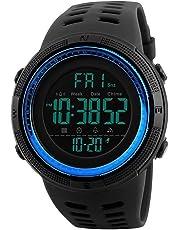 Men's Digital Sports Watch Waterproof Military Alarm with Countdown