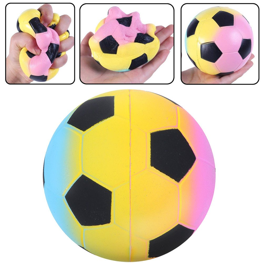 Jinjin Squeeze Galaxy Football,Scented Squishies Very Slow Rising Kids Toys Doll Gift Fun Collection Stress Relief Toy Hop Props (B)