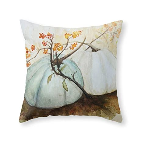 Amazon.com: Color Blanco Gran Calabaza Decorativo poliéster ...