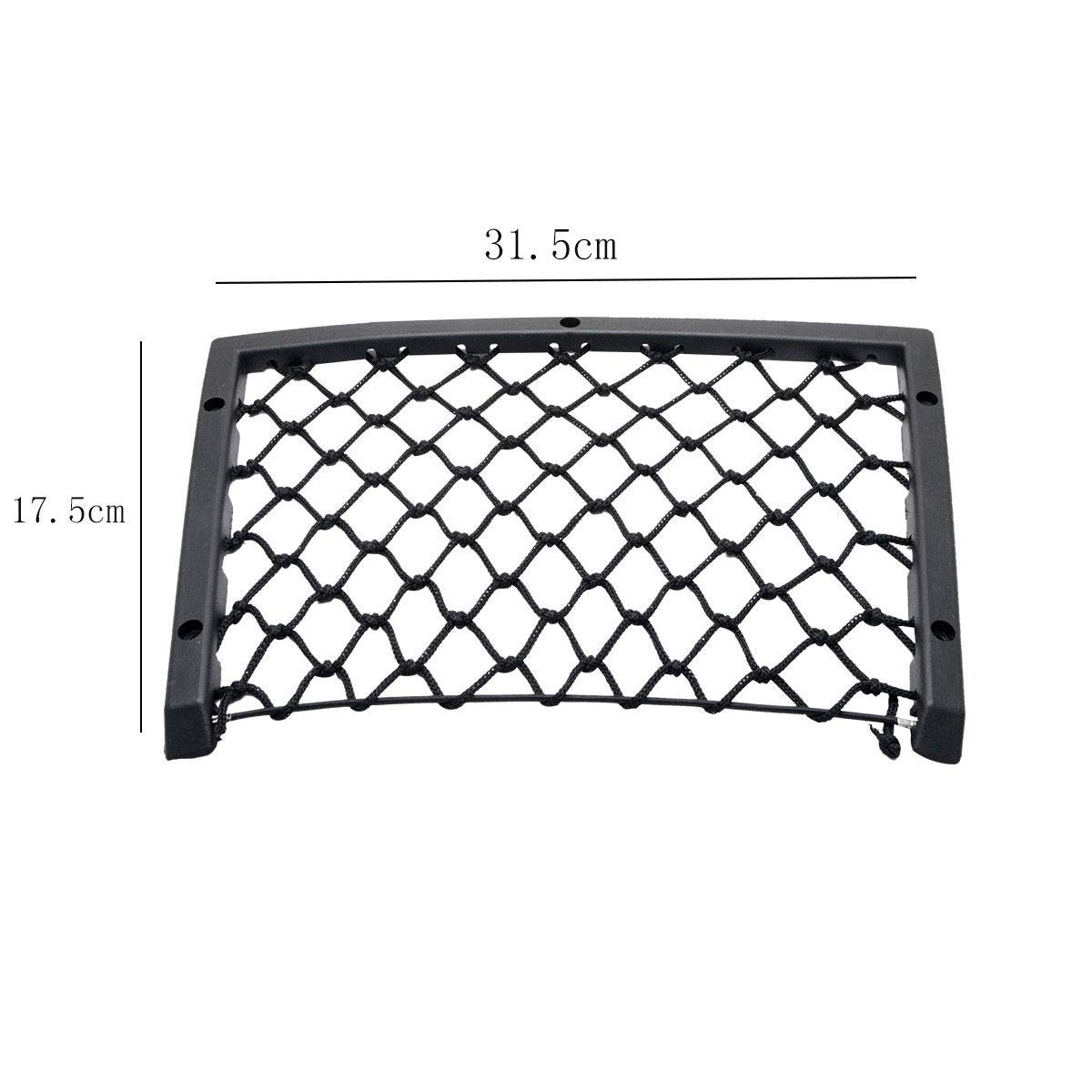 MASO 2x Storage Net Large Elastic Stowing Nets 31.5X17.5cm for Car Truck Boot Tidy