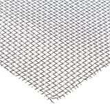 Aluminum Woven Mesh Sheet, Unpolished (Mill) Finish, ASTM E2016-06, 24'' Width, 24'' Length, 0.063'' Wire Diameter, 56% Open Area