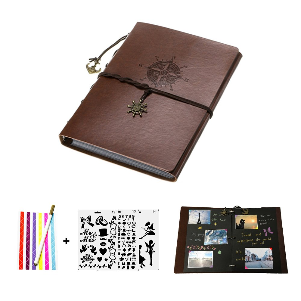 Amazon 1049 Reg 2099 Leather Scrapbook Photo Album 50 Pages