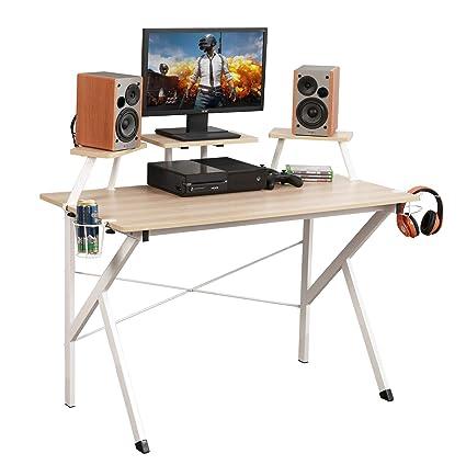 Dlandhome Gaming Computer Desk 120 60 Cm Gaming Table Workstation