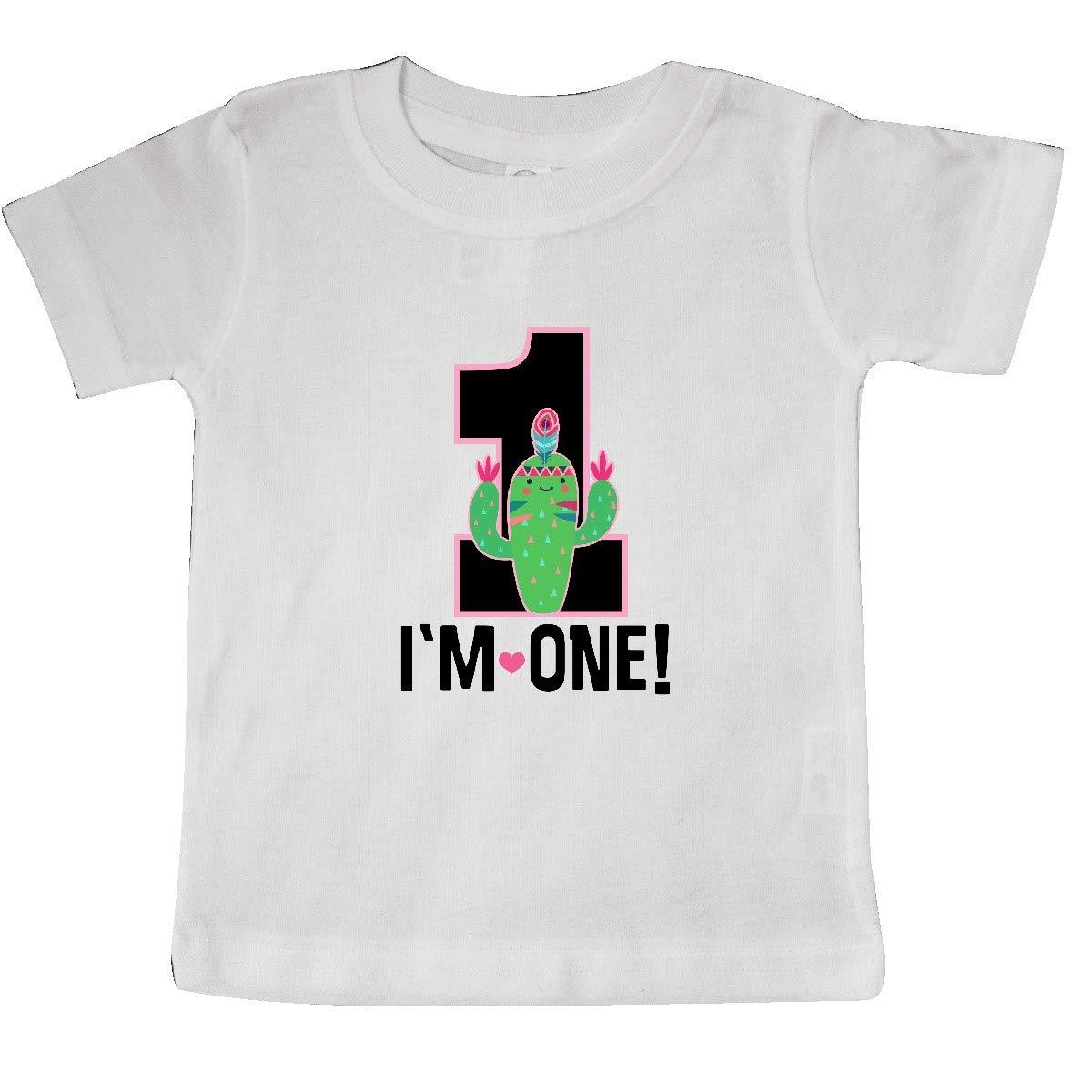 inktastic 1st Birthday Cactus Cute Girls 1 Year Old Baby T-Shirt