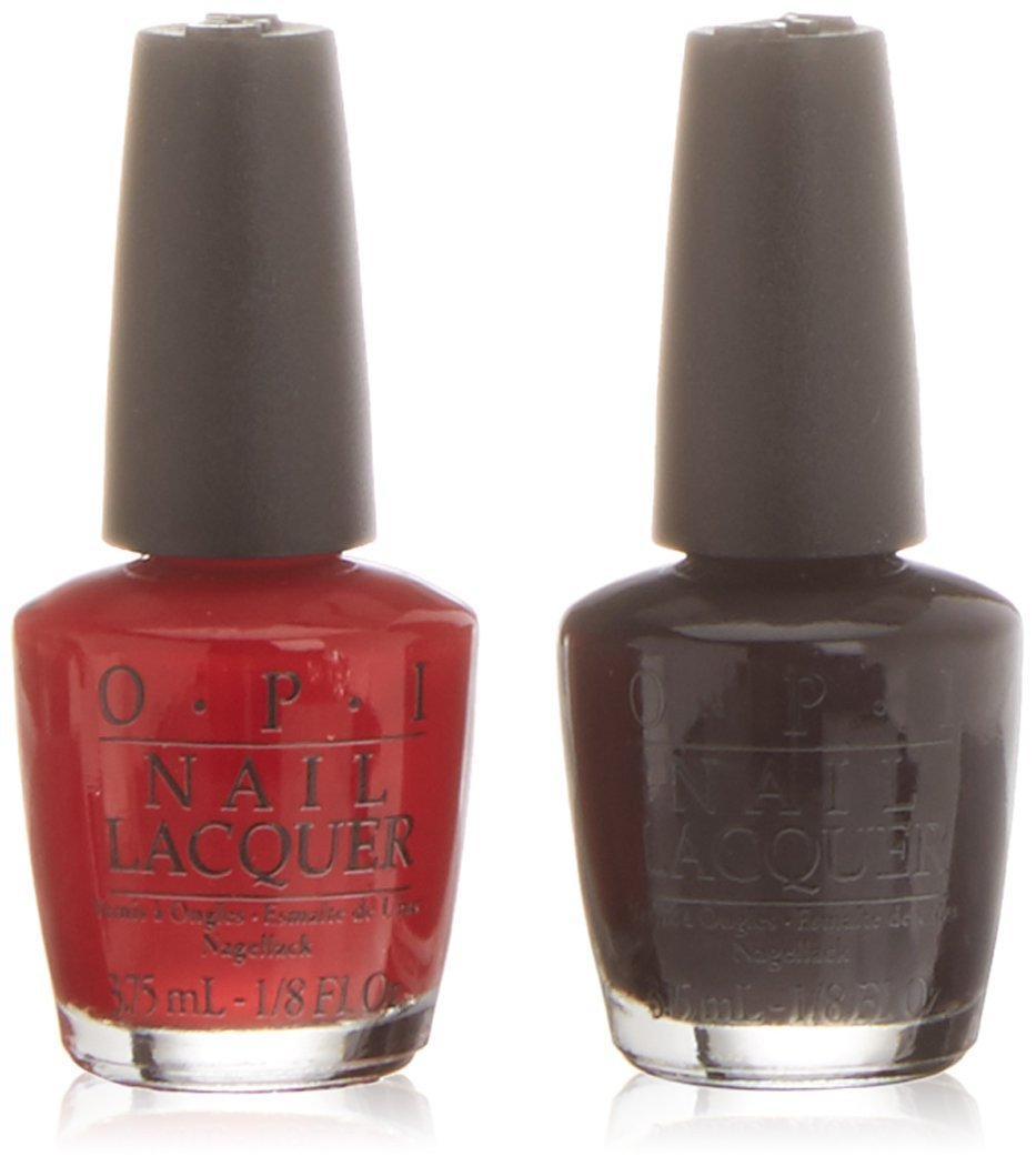 OPI Mini Kit Esmalte de Uñas, Tono All Stars - Big Apple Red + Lincoln Park After Dark - 2 x 3.75 ml OPIG2056