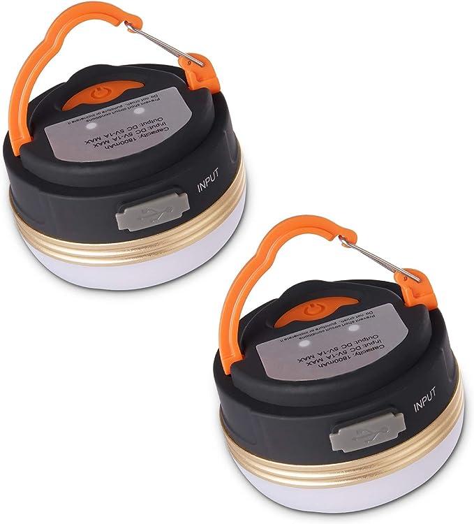 Yizhet Linterna Camping LED, Recargable Camping Lámpara & Banco de Energía 3 Modos Lámpara de Campamento con Base Magnética Impermeable Portátil Luz ...
