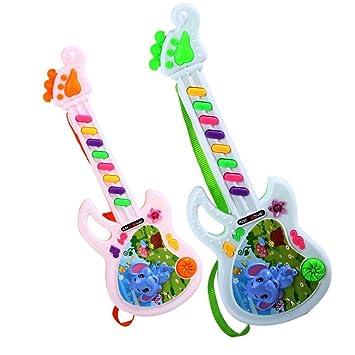 Juguete musical de la guitarra eléctrica Juego para el niño del cabrito Juguete electrónico del aprendizaje del niño: Amazon.es: Deportes y aire libre