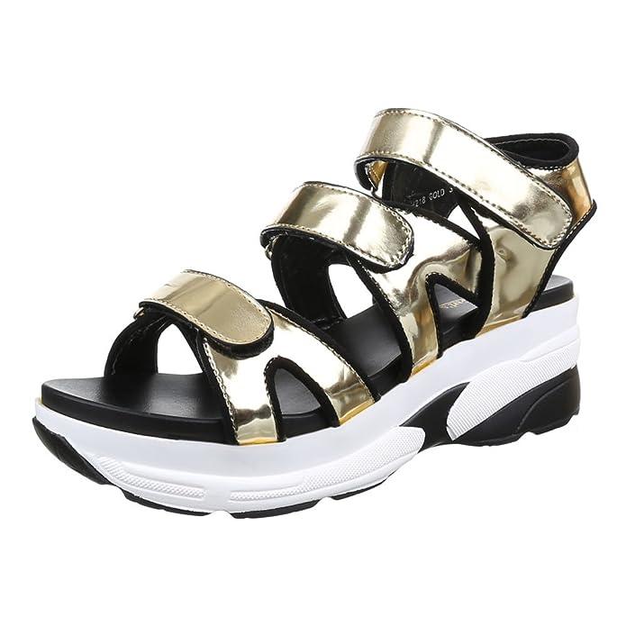 Ital-Design Damen Schuhe, H218, Sandalen Plateau: Amazon.de: Schuhe &  Handtaschen