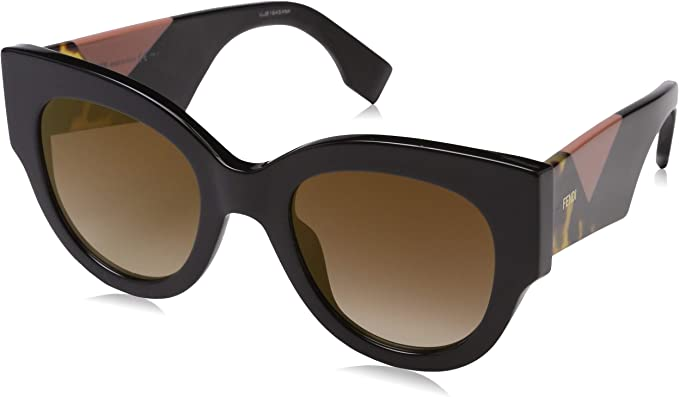 Fendi lunette cateye chunky de facettes en noir FF 0264S 807 51