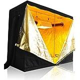 "LAGarden 96x48x78"" 600D 100% Reflective Diamond Mylar Hydroponics Indoor Grow Tent Non Toxic Planting Room"