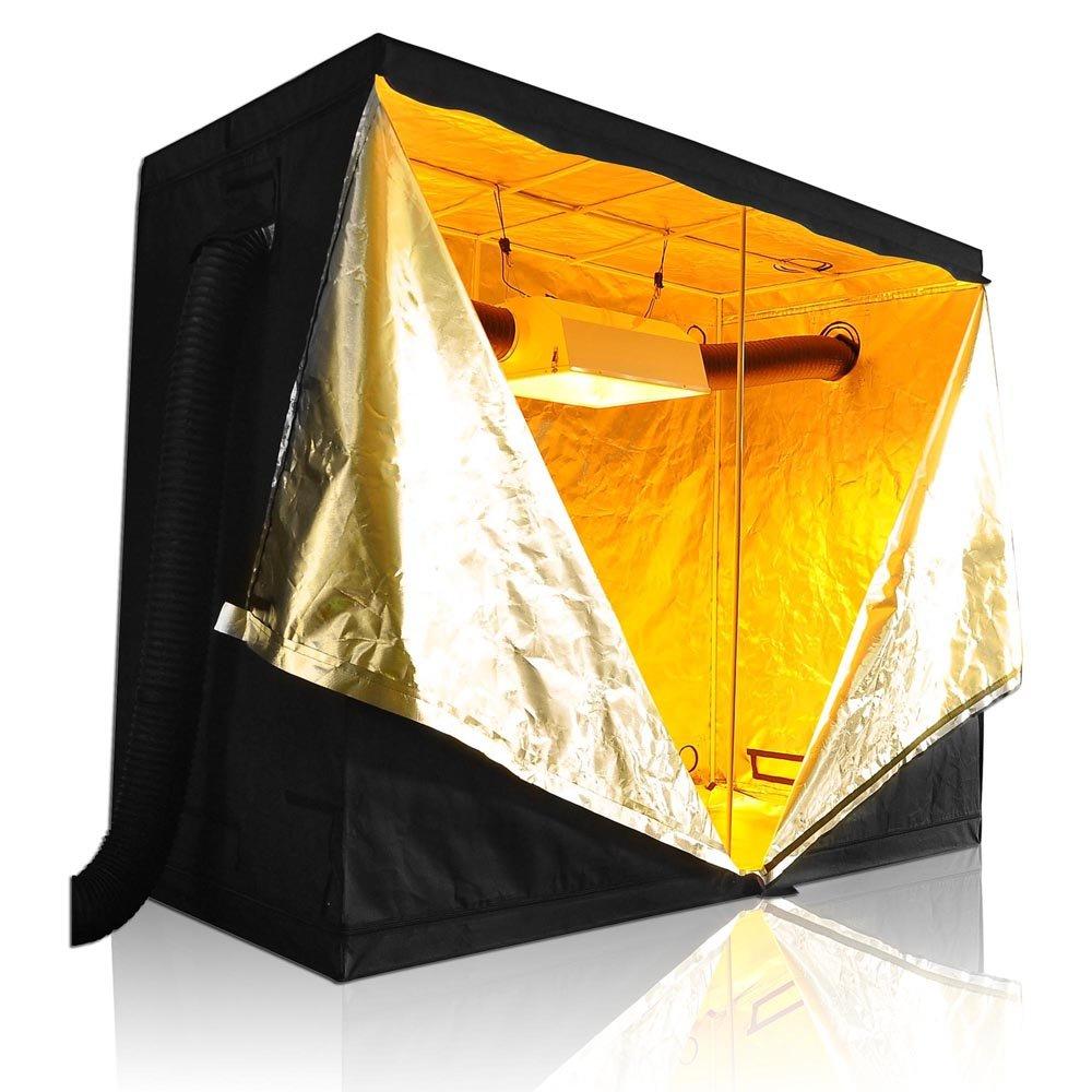LAGarden 96x48x78'' 600D 100% Reflective Diamond Mylar Hydroponics Indoor Grow Tent Non Toxic Planting Room