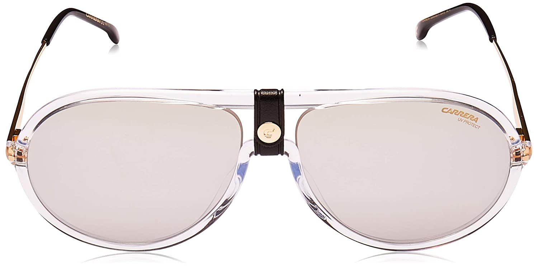 Carrera 1020//S Crystal//Silver Lens Mirror Sunglasses 60-15-145