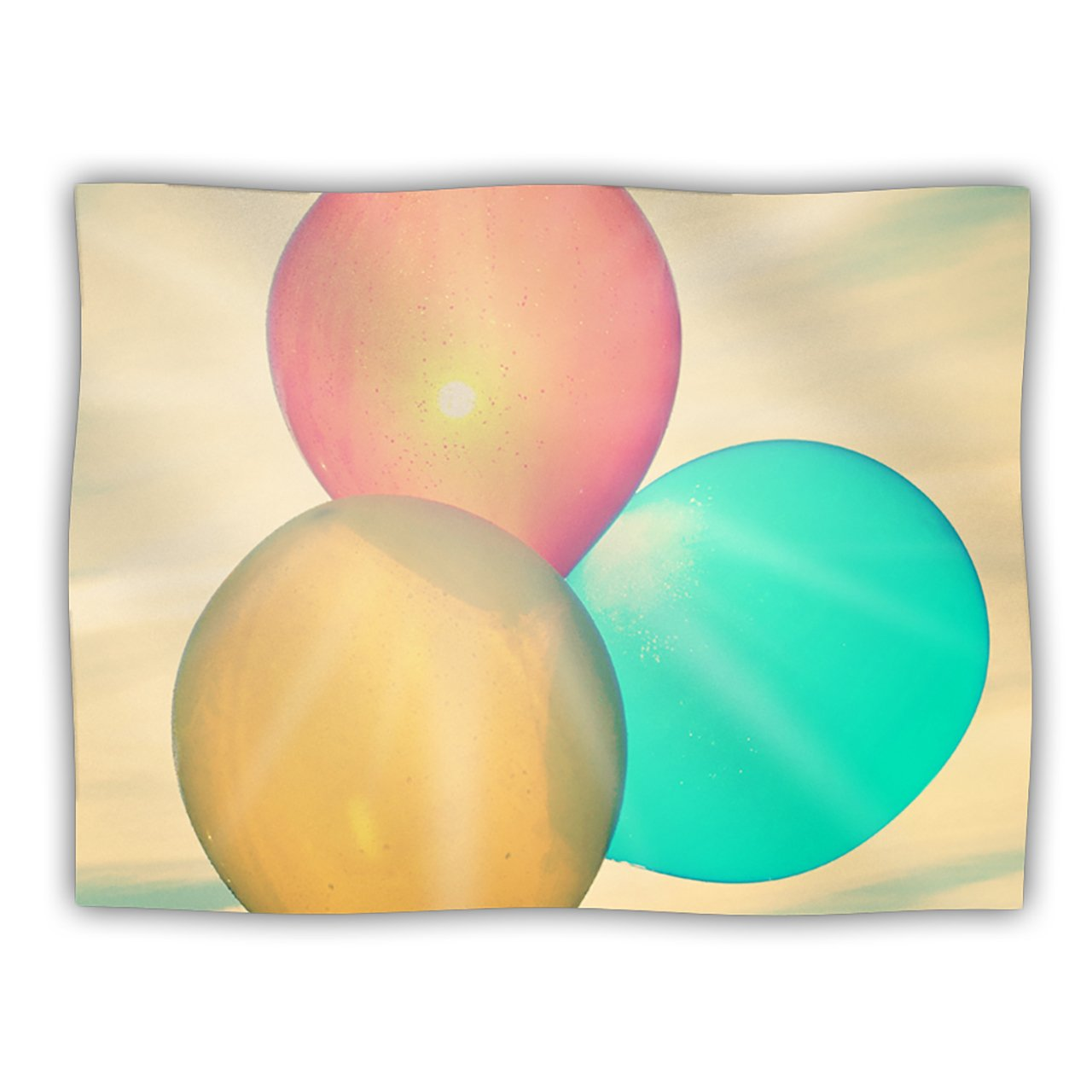 Kess InHouse Robin Dickinson Balloons Tan Clouds Pet Dog Blanket, 60 by 50-Inch