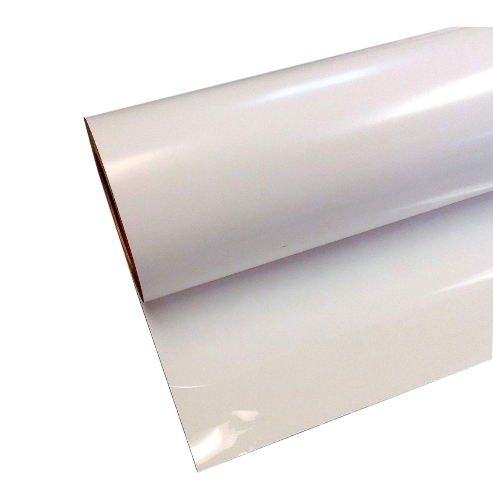 "POVOKICI PU Heat Transfer Vinyl 19.7"" x 82´ Roll Non-Sticky Digital Cutting Heat Transfer Vinyl(White)"