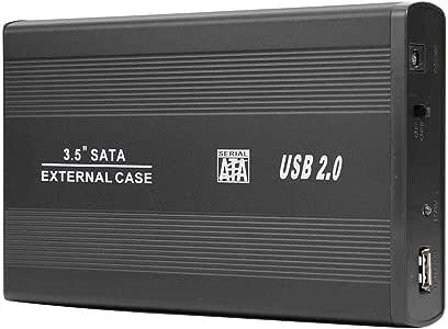 Prosperveil Caja para Disco Duro HDD de 3.5 Pulgadas, USB 2.0 a ...