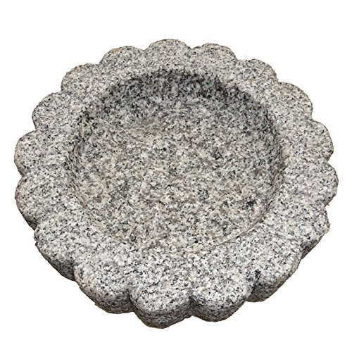 The Crabby Nook Granite Bird Bath Garden Outdoor Decor Hand Carved Stone Statuary Birdbath (White Gray) by The Crabby Nook (Image #4)