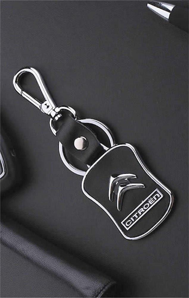 Llavero para Citroën, fabricado con piel, diseño con ...
