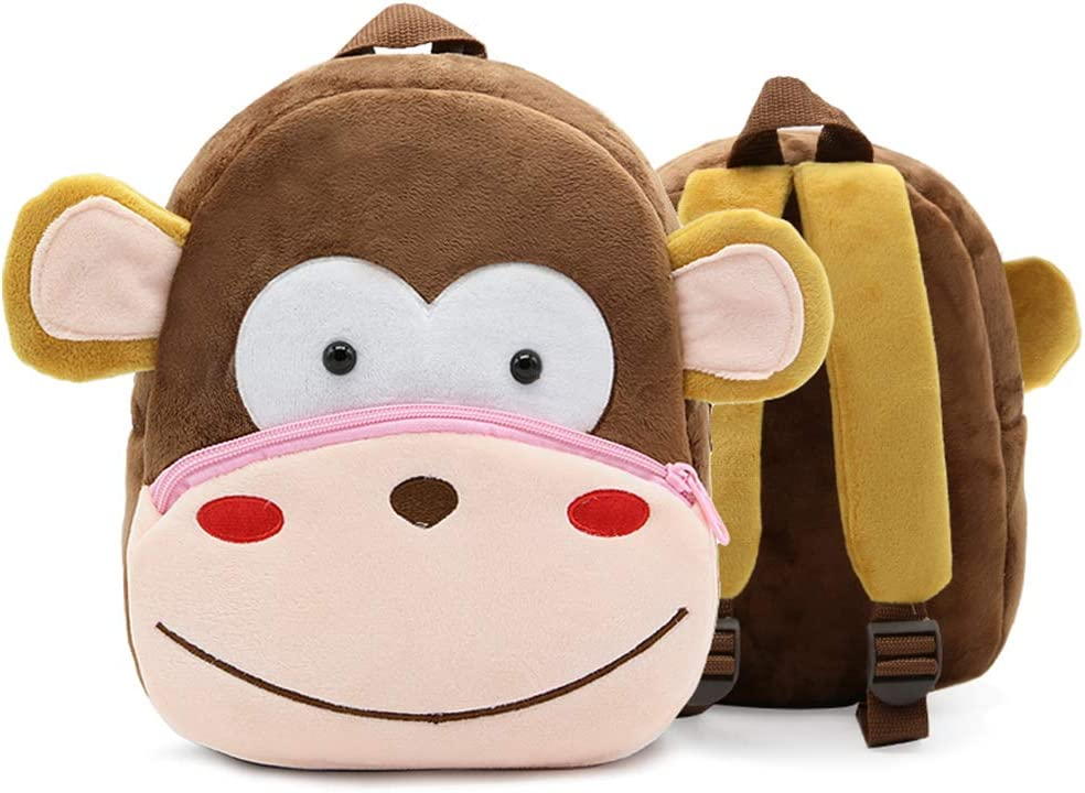 Lamdoo Cute Small Toddler Kids Backpack 3D Animal Cartoon Mini Children Bag for Baby Girl Boy Age 2-4 Years Old/—01# Bee