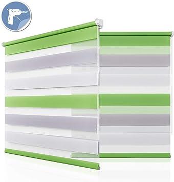 klemmfix doppelrollo ohne Bohren Duo Rollo Fensterrollo Seitenzugrollo 80x150cm