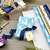 Hallmark Holiday Wrapping Paper Bundle with Cut