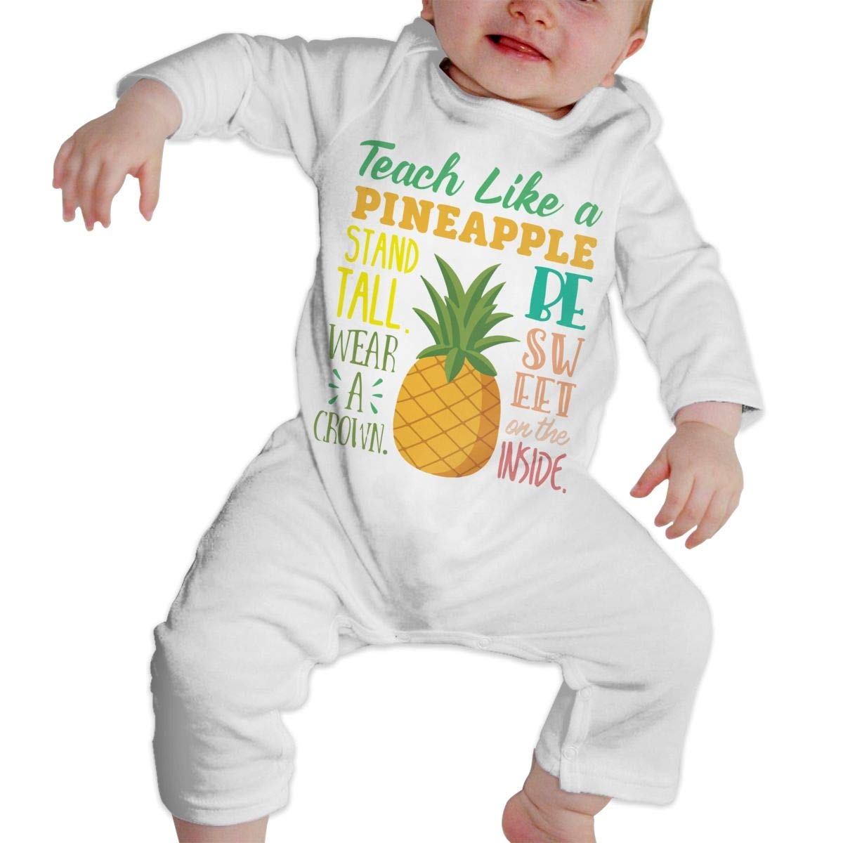 Teach Like A Pineapple2 Infant Girls Boys Essential Basic Bodysuits Coverall Jumpsuit