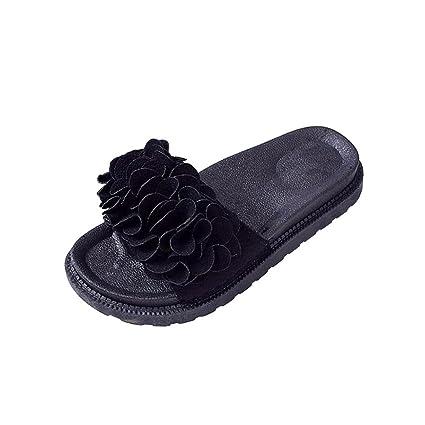 8fc1c18b6dbd7 Amazon.com  Clearance Hot Sale! ❤ Summer Womens Sandals Flat Open Toe  Slipper Flower Thong Flip Flop Beach Summer Shoes BOHO (US 8
