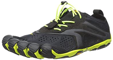 Vibram Men's V-Run Running Shoe, Black/Yellow, 40 EU/8.0