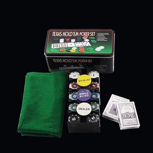 YUY Juego De Fichas World Poker Tour 200 Chip Poker Mantel Caja De ...